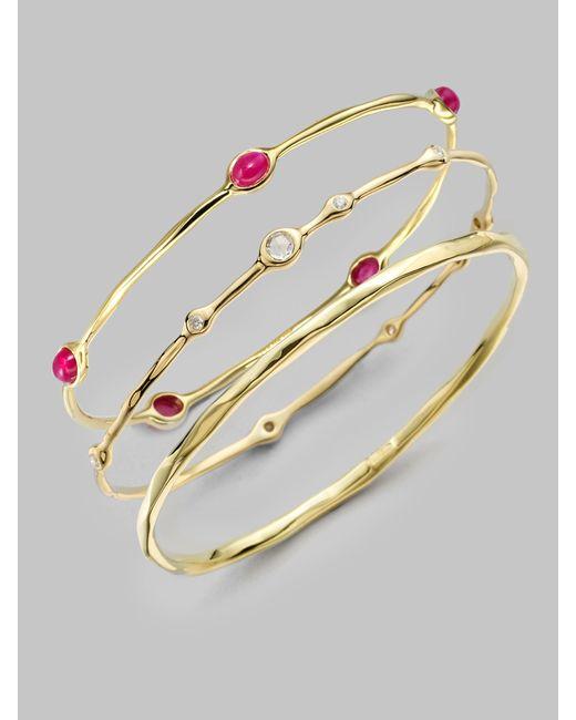 Ippolita | Metallic Glamazon Sculptural Metal 18k Yellow Gold Bangle Bracelet | Lyst