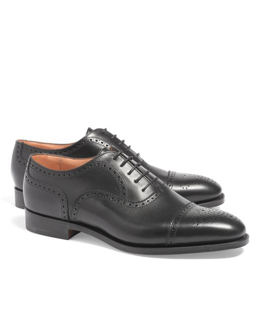 Brooks Brothers | Black Peal & Co.® Medallion Perforated Captoes for Men | Lyst