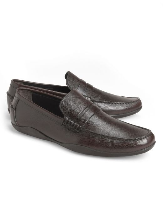 Brooks Brothers | Brown Harrys Of London® Basel Leather Penny Loafers for Men | Lyst