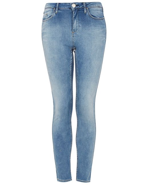 TOPSHOP | Blue Maternity Moto Over-the-bump Leigh Jeans | Lyst
