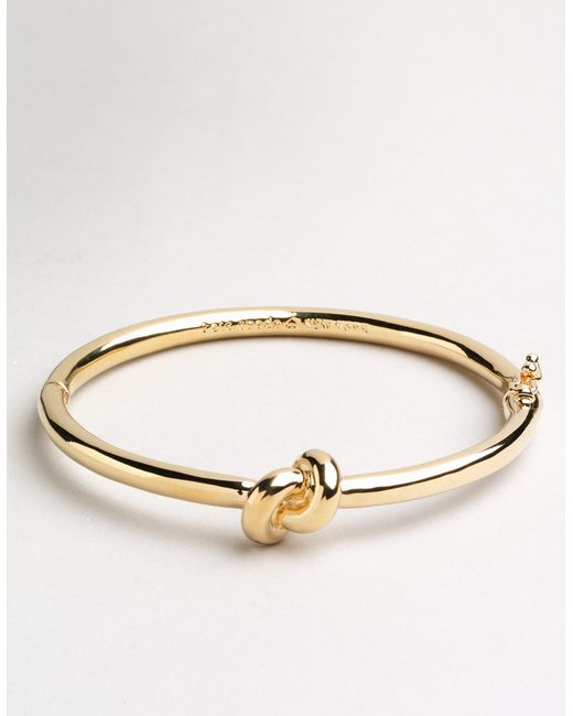 Kate Spade Sailor S Knot Bangle In Gold Gold Tone Lyst