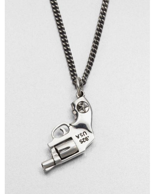 King Baby Studio   Metallic Revolver Pendant Necklace   Lyst