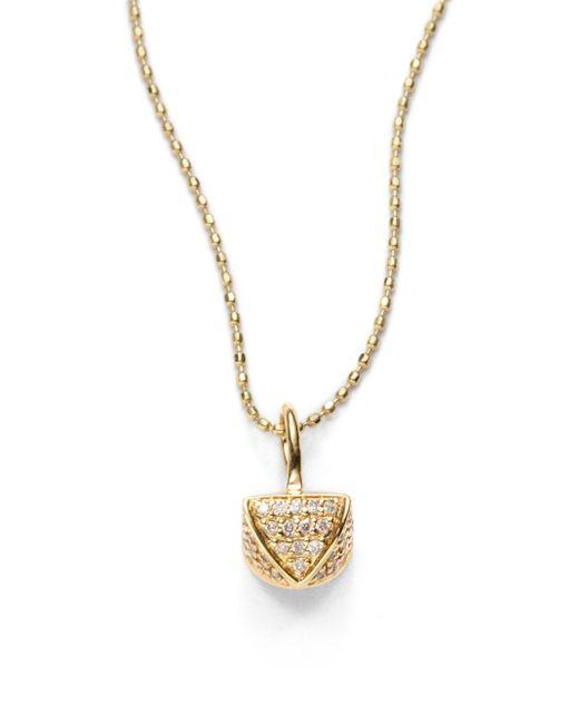 Sydney Evan | Metallic Queen Bee Charm Necklace | Lyst