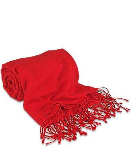 FORZIERI | Red Pashmina & Silk Shawl | Lyst