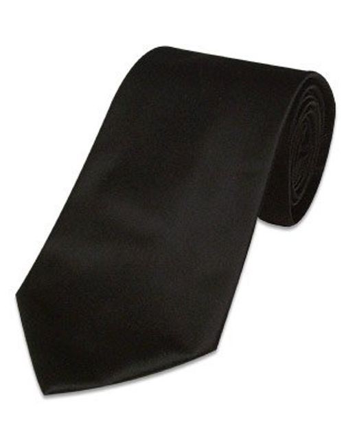 FORZIERI | Solid Black Extra-long Tie for Men | Lyst