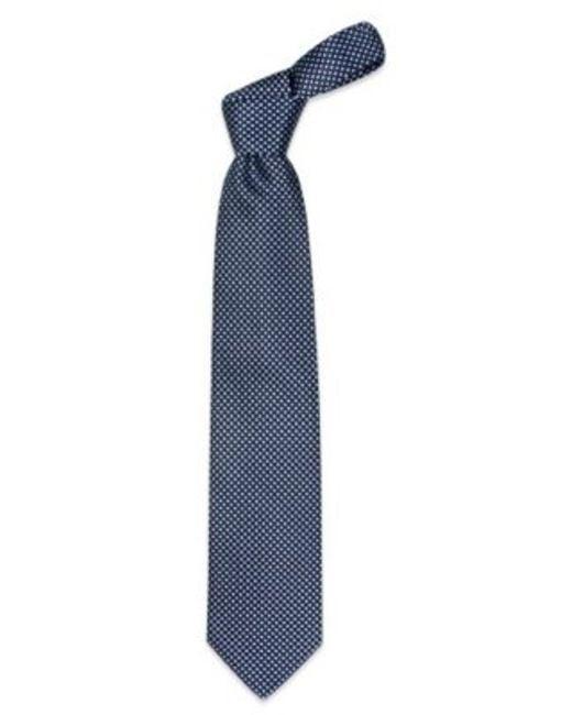 FORZIERI | Blue Checks Extra-long Basketweave Silk Tie for Men | Lyst