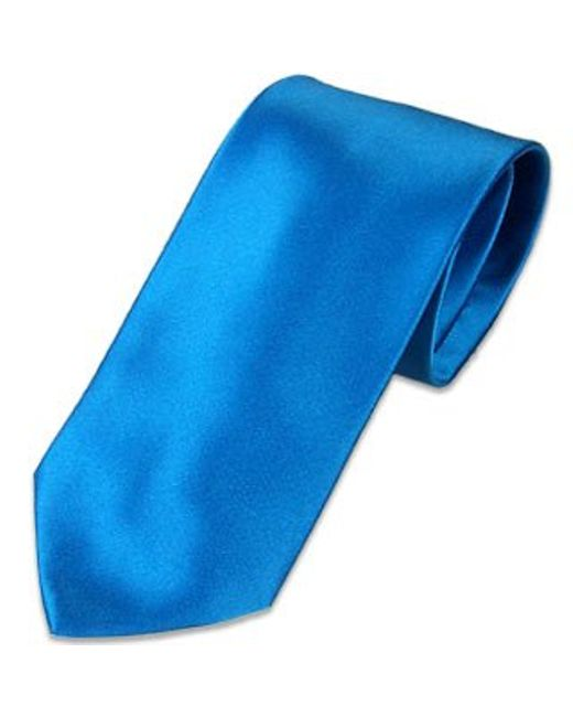 FORZIERI   Solid Blue Extra-long Tie for Men   Lyst