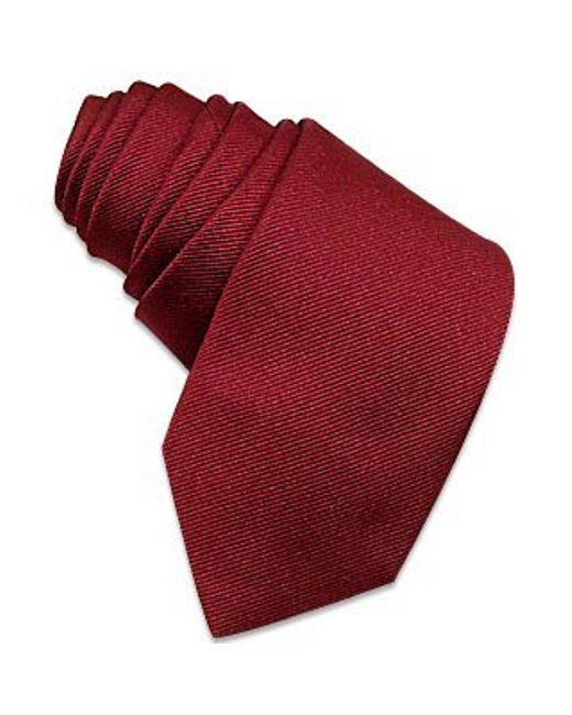 FORZIERI   Purple Solid Burgundy Twill Silk Narrow Tie for Men   Lyst