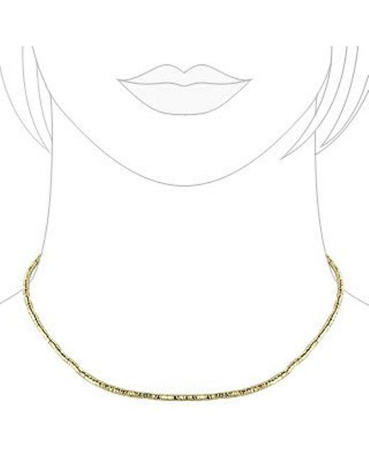 Orlando Orlandini   Metallic Gold Plate Rubber Necklace   Lyst