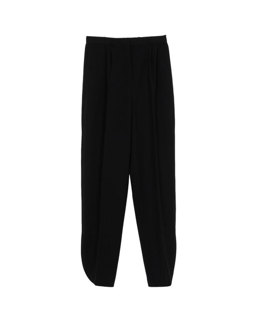 Valentino | Black Sateen Pants | Lyst