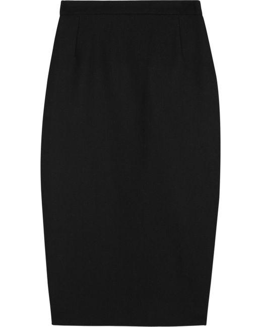 By Malene Birger   Black Taviola Woven Pencil Skirt   Lyst