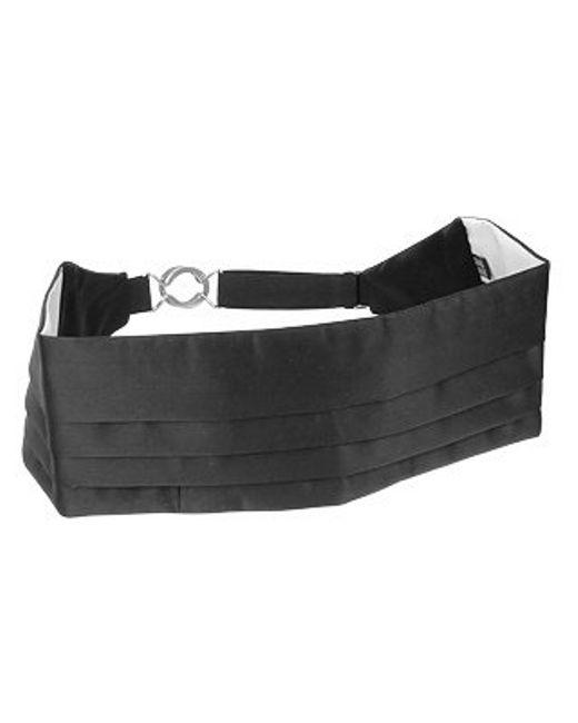 FORZIERI | Black Pleated Pure Silk Cummerbund for Men | Lyst