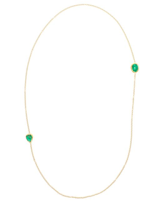 Ram | Green 18k Gold And Emerald Necklace | Lyst