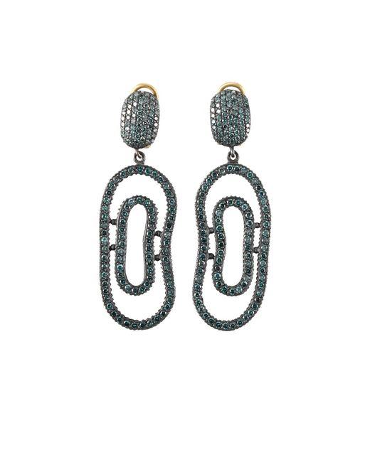 Yossi Harari | Blue-diamond Open Lilah Earrings | Lyst