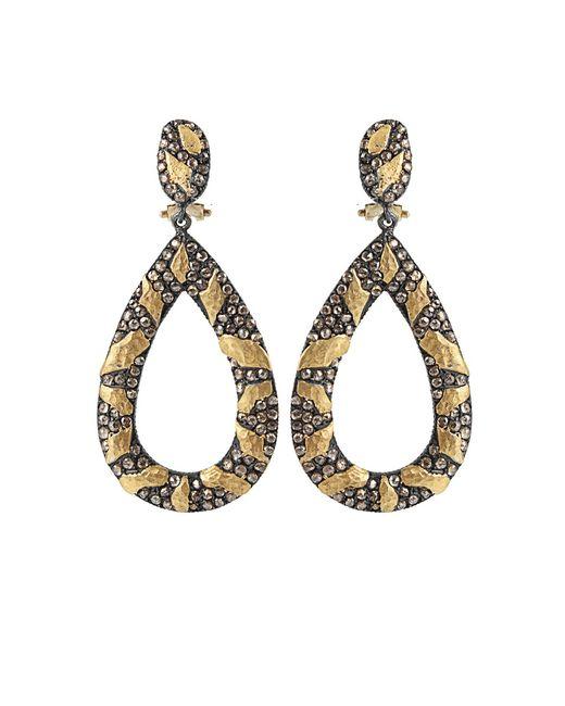 Yossi Harari | Brown Libra Cognac-diamond Drop Earrings | Lyst