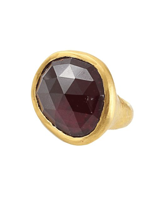Yossi Harari | Green Carmen Rubelite Tourmaline Slice Ring | Lyst