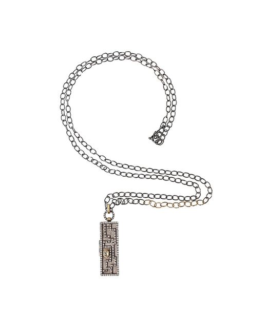 Annie Fensterstock | Metallic Oval Link Chain Necklace | Lyst