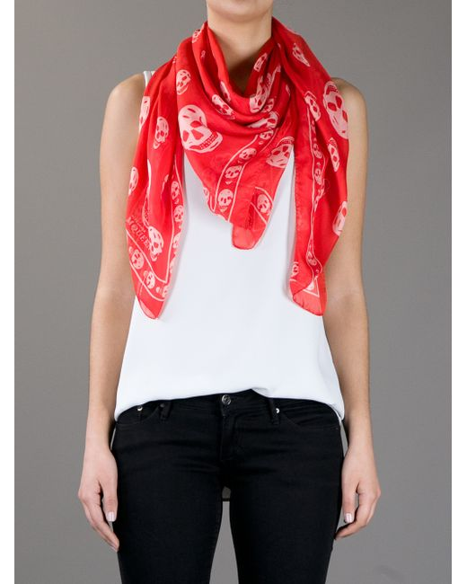 2019 year for lady- Mcqueen alexander scarf red photo