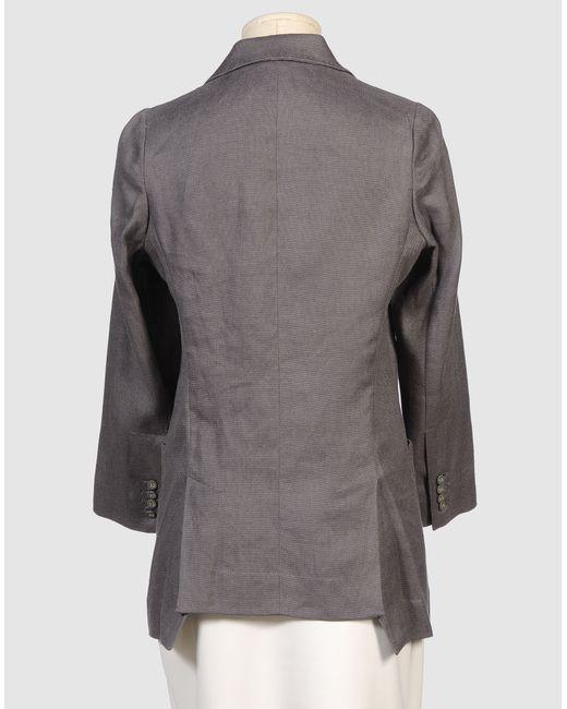 Cynthia Rowley Blazer In Gray Steel Grey Save 74 Lyst