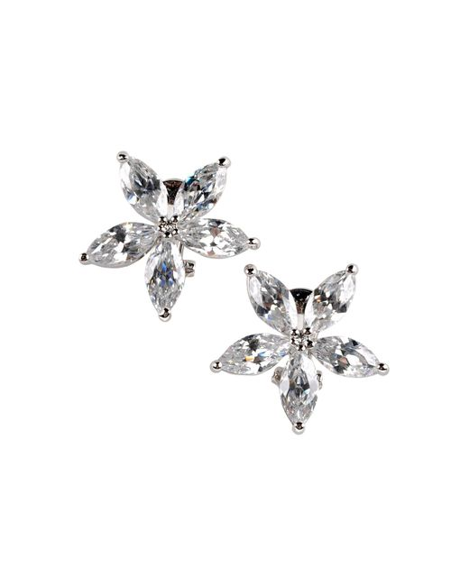 CZ by Kenneth Jay Lane   White Round Cubic Zirconia Stud Earrings 2 Ct   Lyst