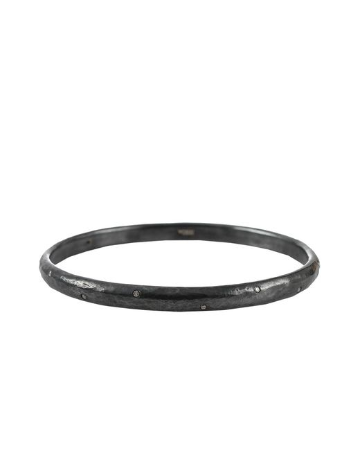 Yossi Harari | Gray Medium Mica Bangle With Small Diamonds | Lyst