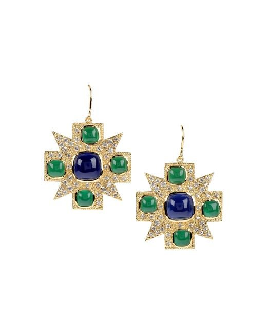 CZ by Kenneth Jay Lane | Blue Earrings | Lyst