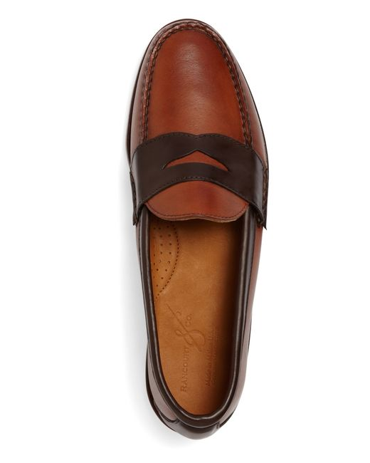 Brooks brothers Rancourt & Co. Two-tone Penny Loafers in ...