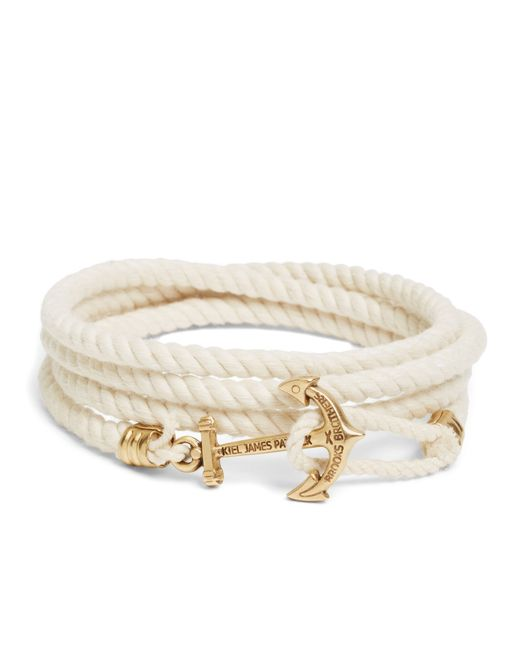 Brooks Brothers | Natural Kiel James Patrick Lanyard Hitch Cord Bracelet for Men | Lyst