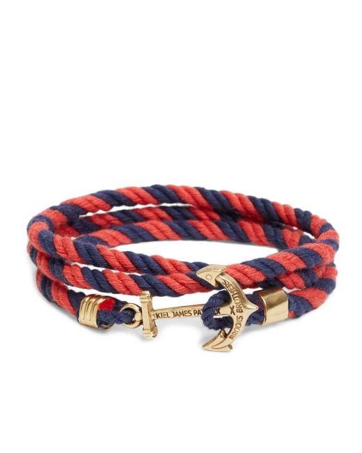 Brooks Brothers | Red Kiel James Patrick Lanyard Hitch Cord Bracelet for Men | Lyst
