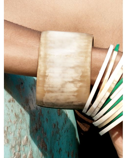 Nest | Natural Blonde Horn Bangle Bracelet | Lyst
