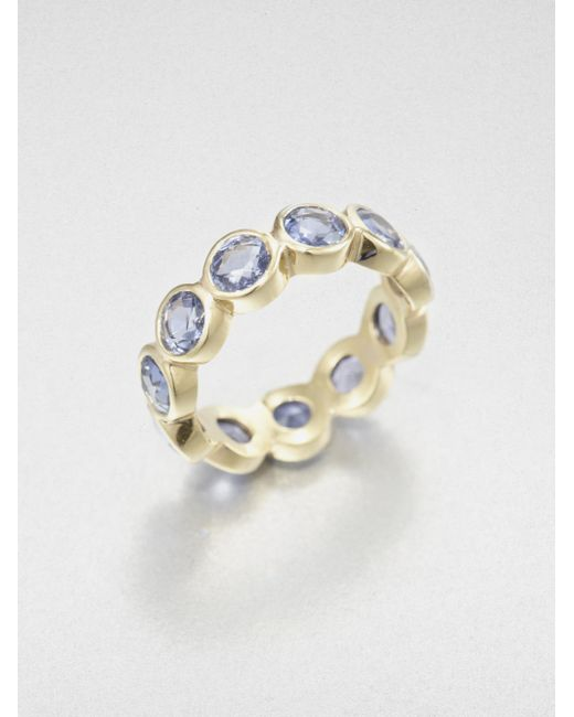 Temple St. Clair | Metallic Classic Color Sapphire & 18k Yellow Gold Eternity Band Ring | Lyst
