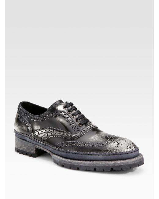 Dolce & Gabbana | Black Lace-up Shoes for Men | Lyst