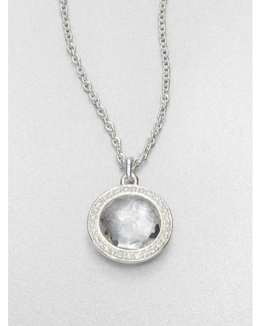 Ippolita | Metallic Clear Quartz & Diamond Pendant Necklace | Lyst