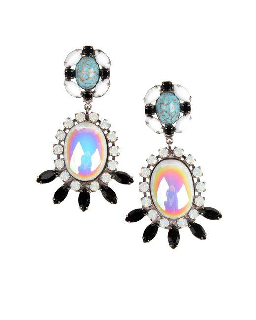 DANNIJO | Black Amira Crystal Earrings | Lyst