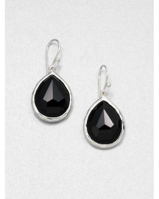 Ippolita | Rock Candy Black Onyx & Sterling Silver Mini Teardrop Earrings | Lyst