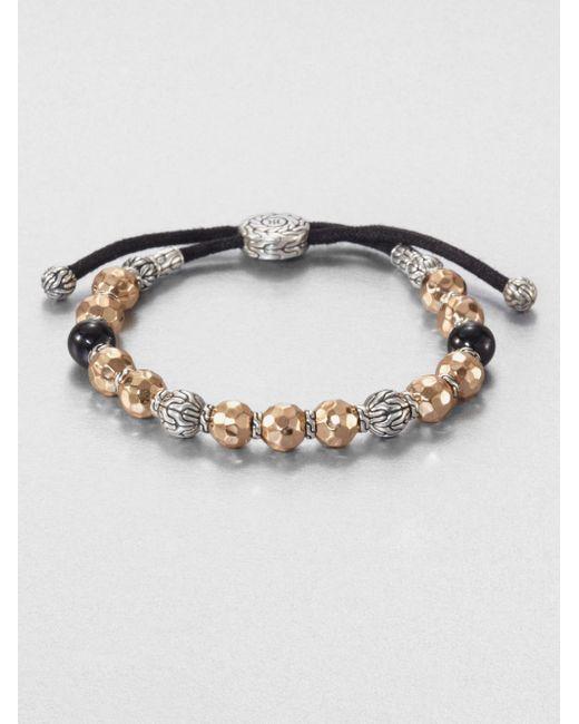John Hardy   Metallic Palu Beaded Bracelet for Men   Lyst