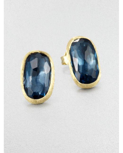 Marco Bicego | Metallic 18k Yellow Gold & Diamond Stud Earrings | Lyst