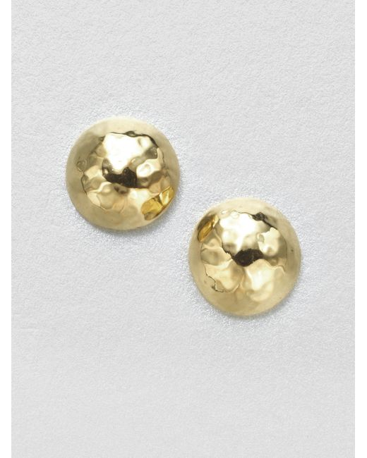 Ippolita | Metallic Glamazon 18k Yellow Gold Pin Ball Stud Earrings | Lyst