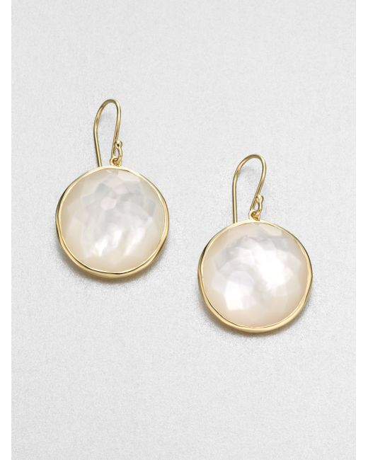 Ippolita | Metallic Lollipop Mother-of-pearl & 18k Yellow Gold Large Drop Earrings | Lyst