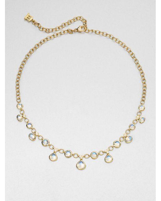 Temple St. Clair | Metallic Royal Blue Moonstone, Diamond & 18k Yellow Gold Half Bib Necklace | Lyst