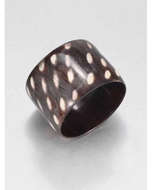 Nest | Brown Spotted Horn Bracelet | Lyst