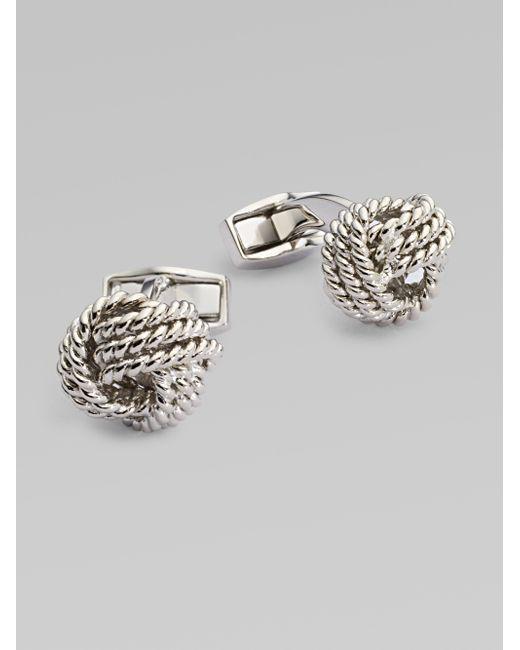 Tateossian   Metallic Round Knot Cuff Links for Men   Lyst