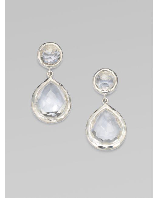 Ippolita | Metallic Clear Quartz Snowman Drop Earrings | Lyst