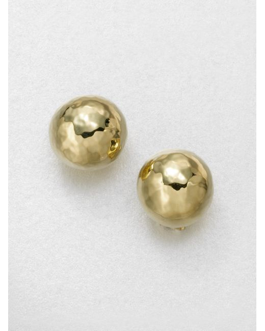 Ippolita | Metallic Glamazon 18k Yellow Gold Pin Ball Button Earrings | Lyst