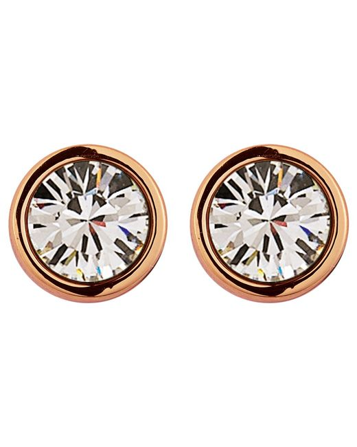 Dyrberg/Kern | Pink Dyrberg/kern Noble Medium Swarovski Crystal Stud Earrings | Lyst
