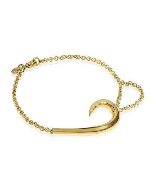 Shaun Leane | Metallic Sterling Silver And Rose Gold-plate Hook Bracelet | Lyst