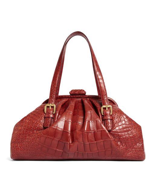 Brooks Brothers | Red Alligator Soft Frame Bag | Lyst