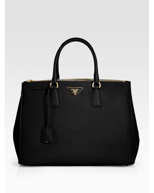 Prada | Black Saffiano Lux Large Double-zip Tote | Lyst