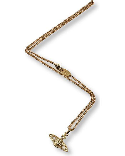 Vivienne Westwood | Metallic Mini Bas Relief Diamante Orb Necklace | Lyst
