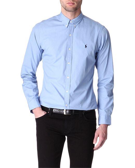 Polo Ralph Lauren | Blue Slim-fit Single-cuff Shirt for Men | Lyst